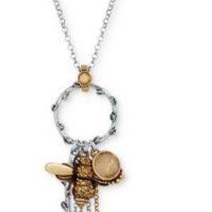 New lucky rhinestone bee charm necklace